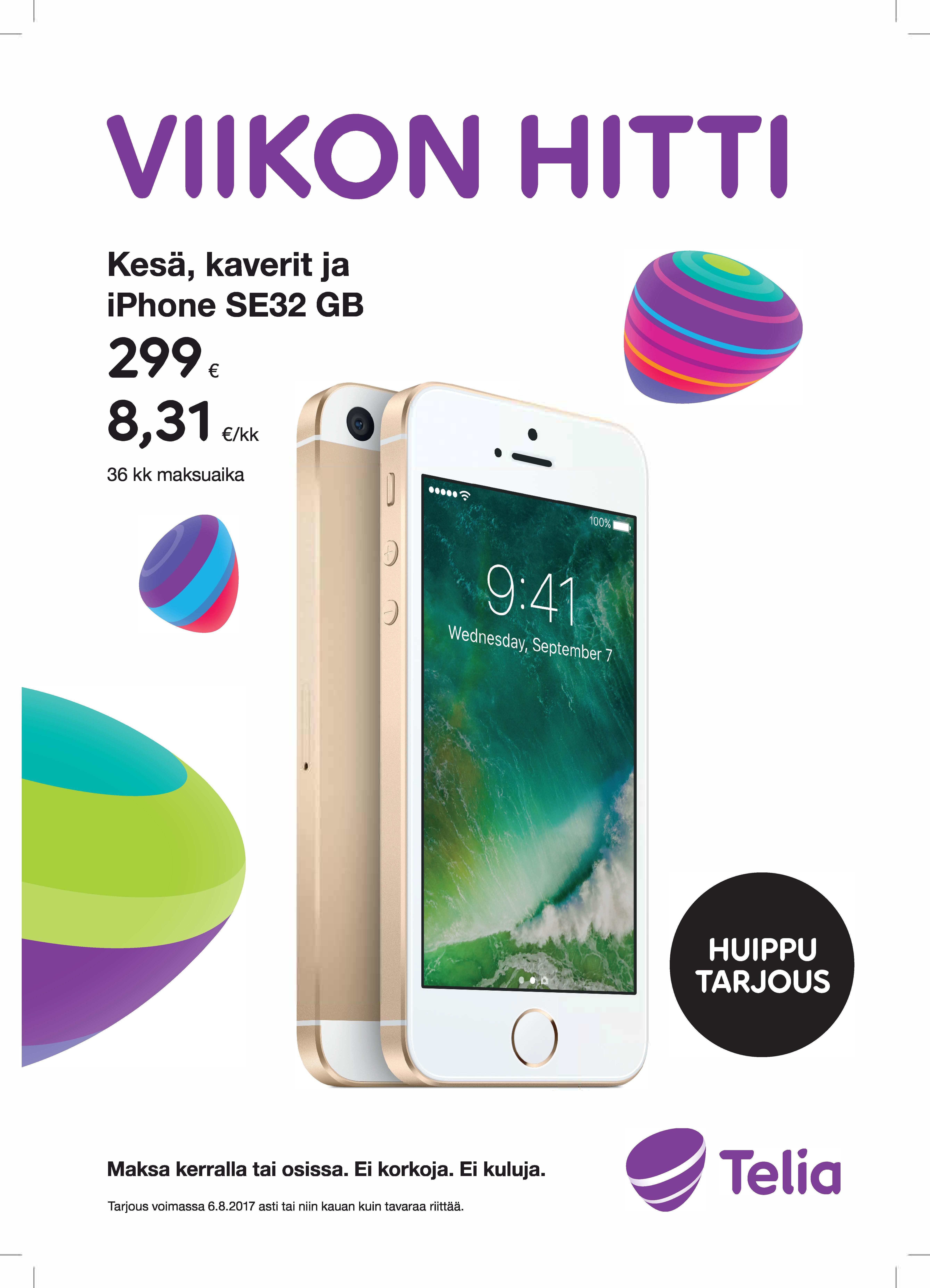 VIIKON HITTI iPhone SE 32GB  - Telia Kauppa