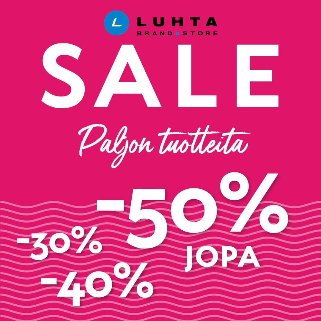 Luhta Brand Storessa alkoi SALE! Jopa -50% valikoiduista tuotteista.