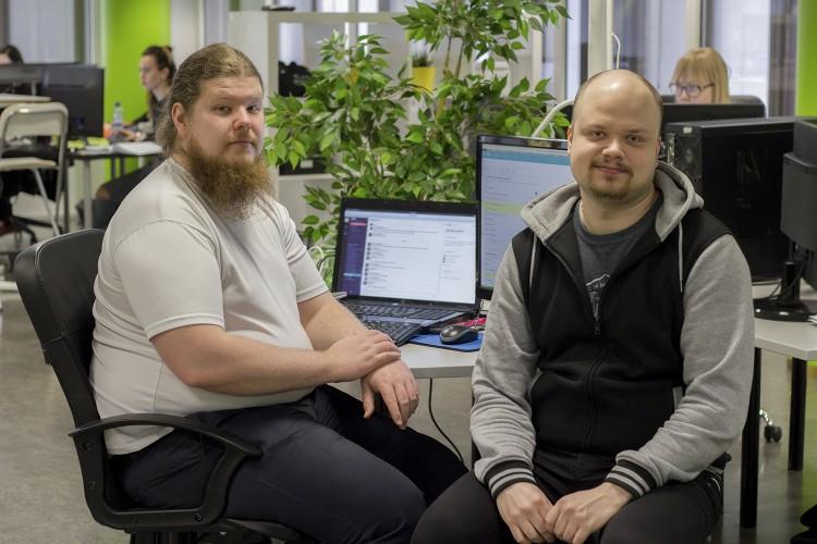 Joonas Hämäläinen ja Jussi Alanen projektitiimistä.