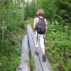 Wandern entlang des Flusses Hiitolanjoki