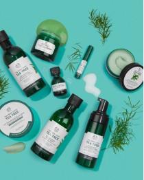 Tea Tree -kasvojenpuhdistusgeeli ja kasvovesi nyt huippuhintaan 12€ - The Body Shop