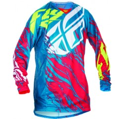 KINETIC RELAPSE JERSEY TEAL/RED/HI-VIS -thumbnail