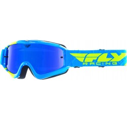 ZONE YOUTH BLUE/H-VIS BLUE CHROME/SMOKE LENS -thumbnail