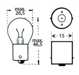 Lamppu 6v 18w Ba 15s-thumbnail