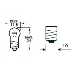 Lamppu 6v 3w E 10-thumbnail