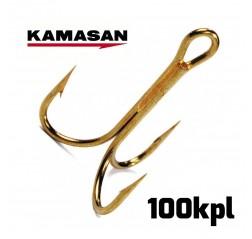 IPK62 kemiallisesti teroitettu 3-haarakoukku 100kpl-thumbnail