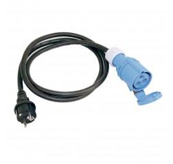 Maasähkökaapeli adapteri sininen naaras --> Schuko koiras-thumbnail