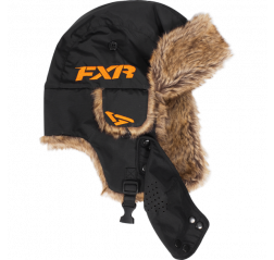 Trapper Hat 17 Black/Orange-thumbnail